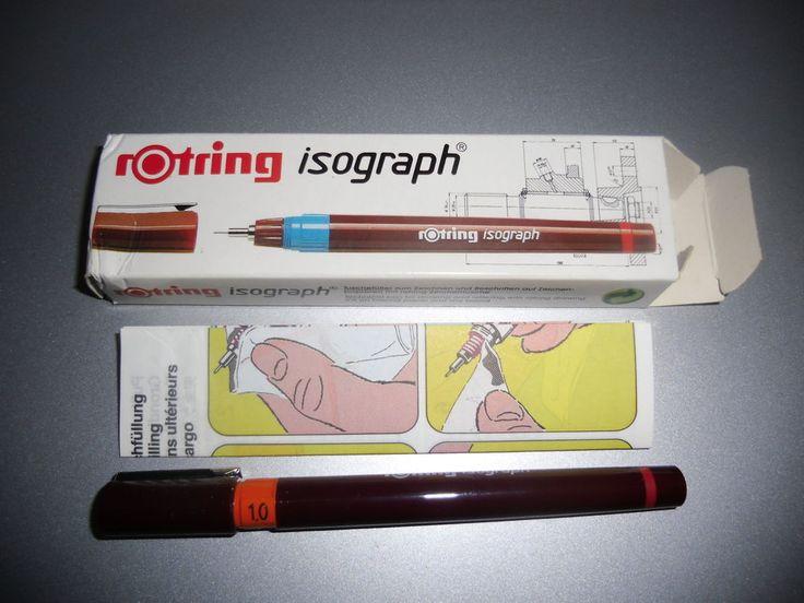 rOtring isograph Tuschefueller 1,00 mm Orange Art.151100 mit Verpackung