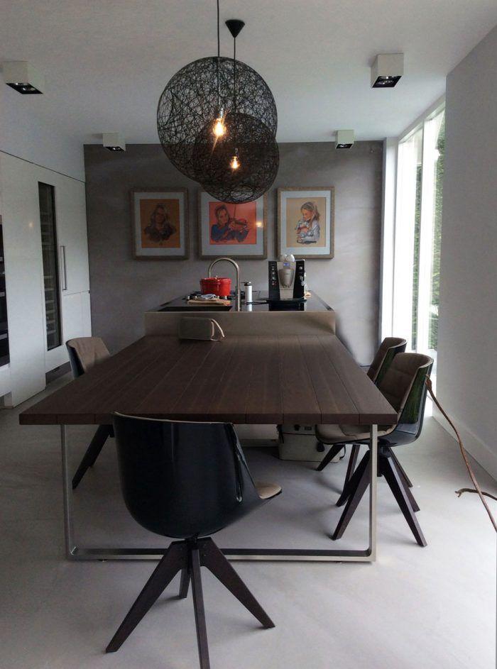 Microcement vloer, moderne Arclinea keuken, Moooi lampen, Naaldwijk