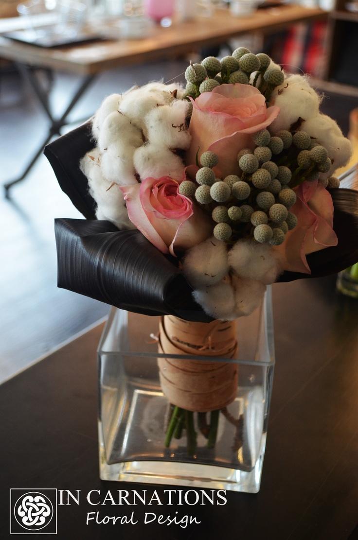 #cotton #bouquet.    www.incarnationsdesign.com  copyright In Carnations