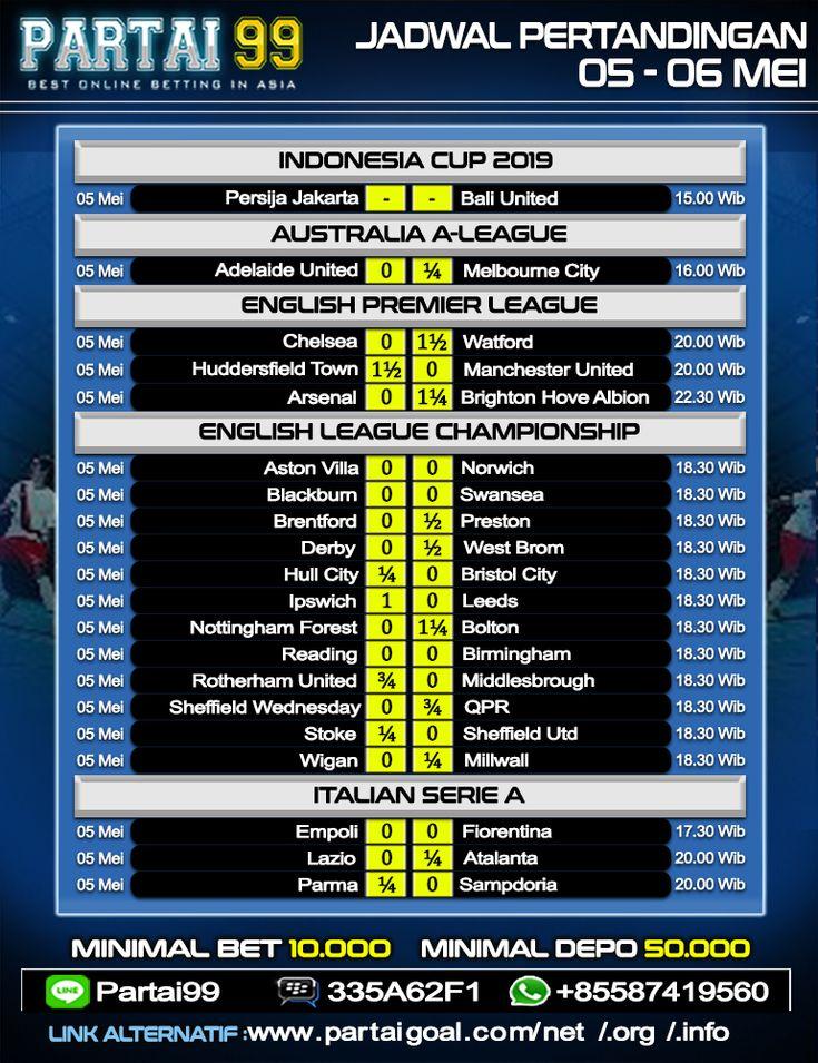 Jadwal Pertandingan Sepak Bola Tanggal 05 06 Mei 2019