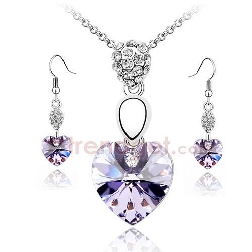 Dazzling Austria Crystal Alloy Fashion Jewelry Sets