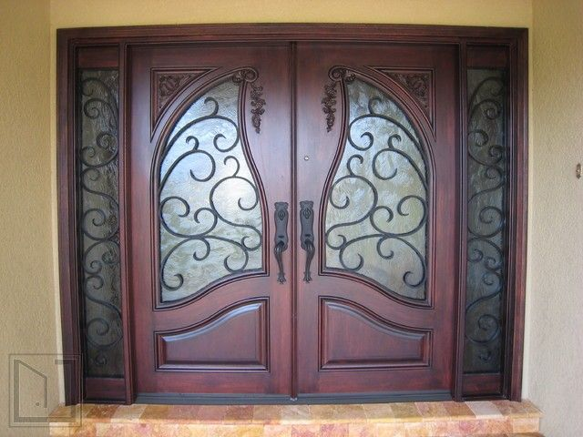 19 best images about door window decor faux wrought iron for Old world entry doors