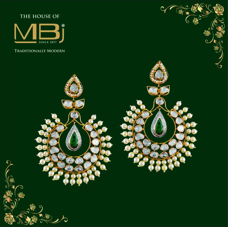 The flair of exquisiteness #MBj #MBjIndia #Earrings #Luxury #Diamondearrings #Jewellery #Bridal