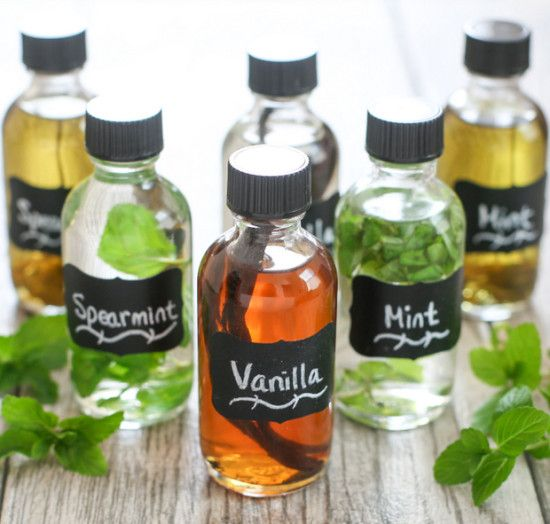DIY Extracts - make your own extracts including Vanilla, Mint, Spearmint.