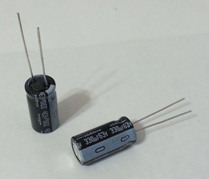 200Pcs Nichicon Electrolytic Capacitor 330uF 63V 10mmx20mm Radial UVZ1J331MPD #Nichicon