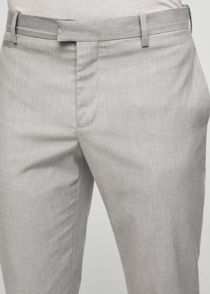 Pantalón slim-fit estructura - Hombre | MANGO Man España