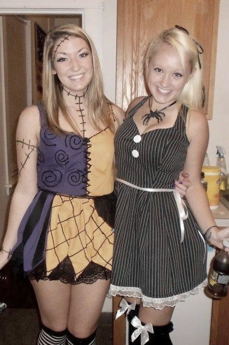 Homemade Jack and Sally halloween costumes