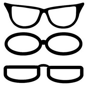 Siluetas para hacer gafas. Silhouette.