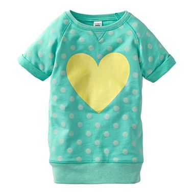 Carter s Girl Toddler Dot Heart Tunic 1 JCPenney