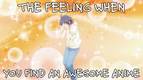 The feeling of finding an awesome Anime XD