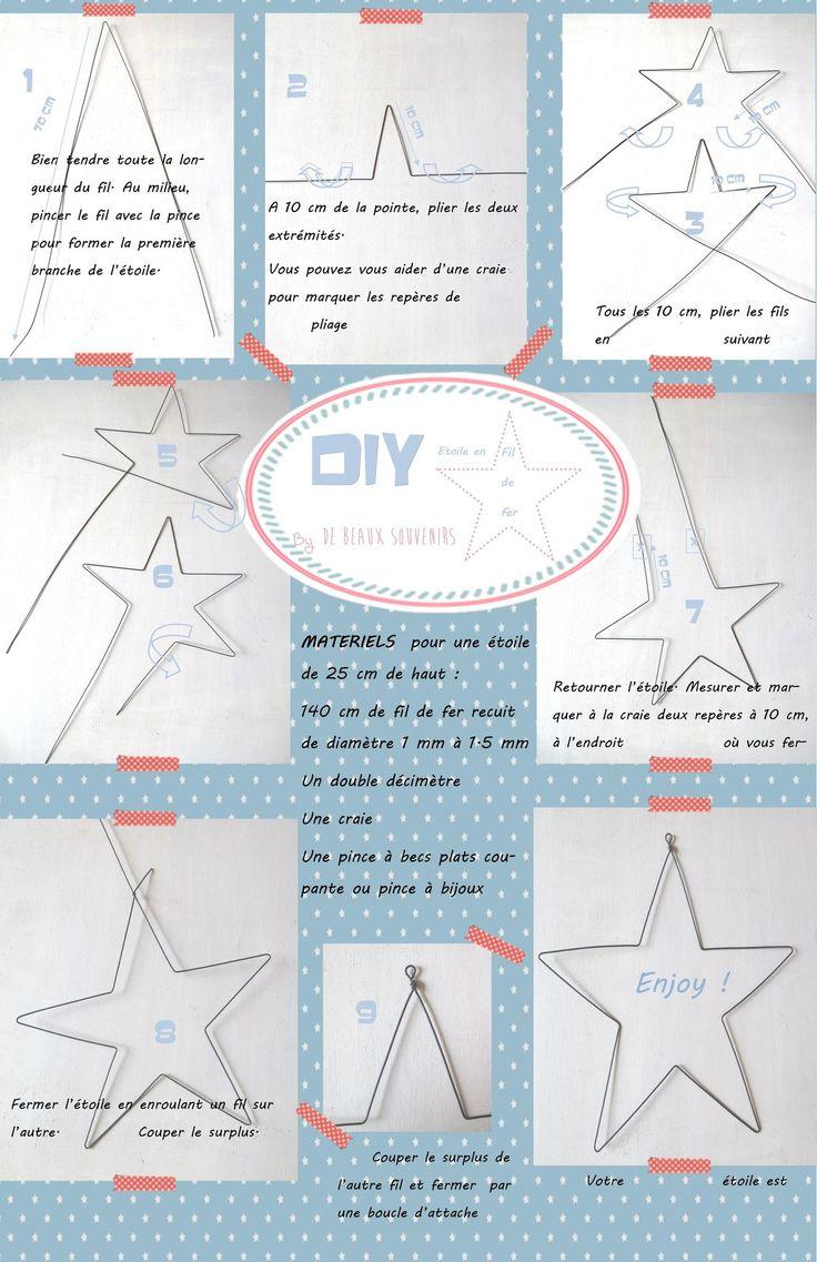 DIY { Faire une étoile en fil de fer } - De Beaux Souvenirs  create a wife star.