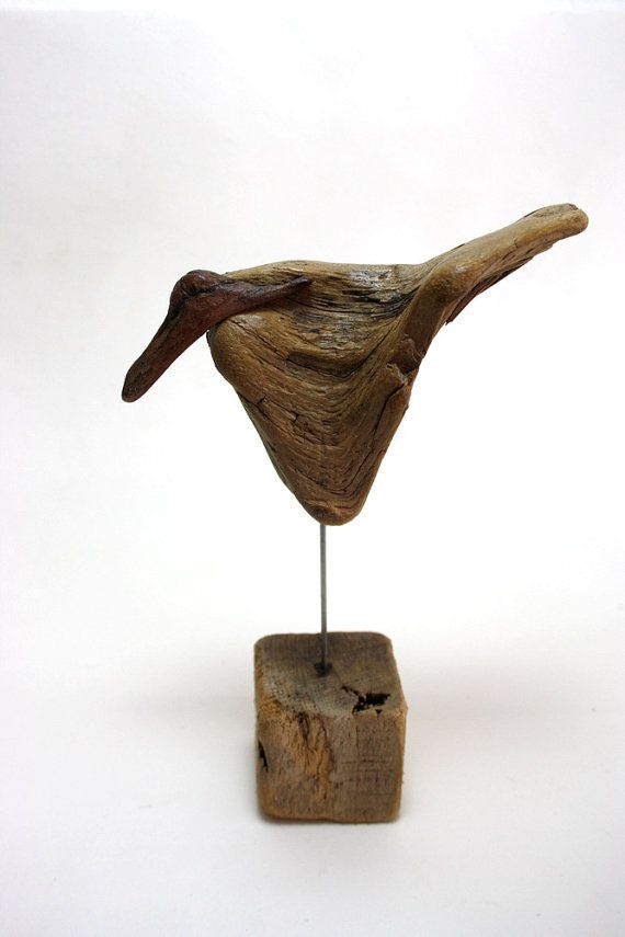"""driftwood sculpture """" bird """" , so lovely... made from natural driftwood... natural piece of art...  size 16 cm...one of a kind decoration. $89.00, via Etsy."""