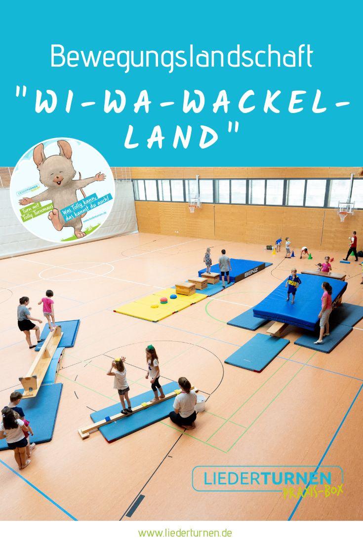 """Motion landscape """"Wi-Wa-Wackel-Land""""  – BEWEGUNGSLANDSCHAFTEN FÜR DAS KINDERTURNEN"""