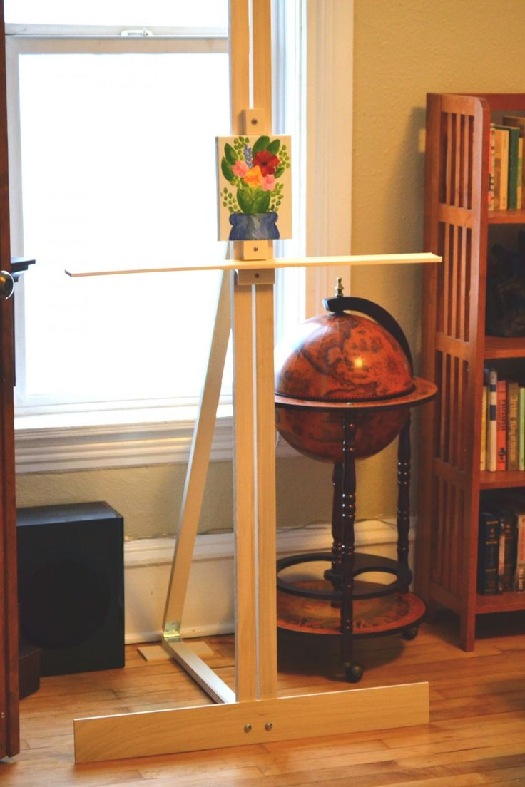Make a Sturdy Art Easel for Under $30... Maybe make a ... on Easel Decorating Ideas  id=88771