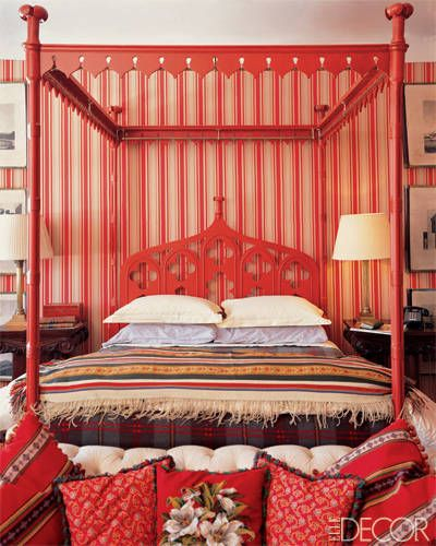 red canopy bed bedrooms