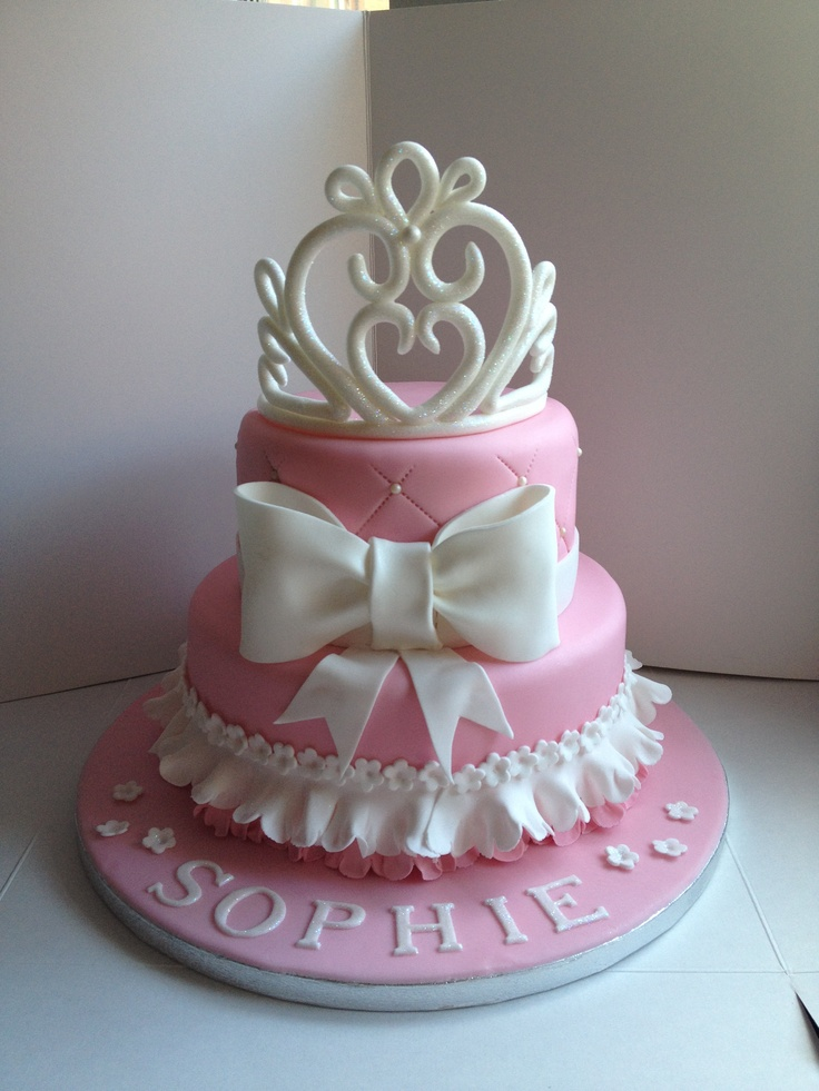 Princess Crown Cake Pictures : My princess tiara cake - a 2 tier vanilla cake with a ...