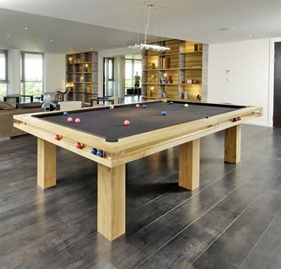 This will do!    Billiard Table Interior Design   ... American Pool Table in Chrome with Black Cushion Rail and Black Cloth