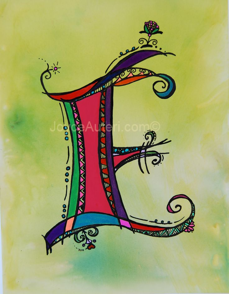 'E' 4x6 print on high quality paper, embellished with glitter, matted & framed to 5x7, ready to hang or display on shelf: $35