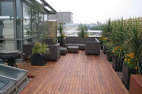The flooring for the patio has a similar look to the fence which is the same look as the seams on jeans.