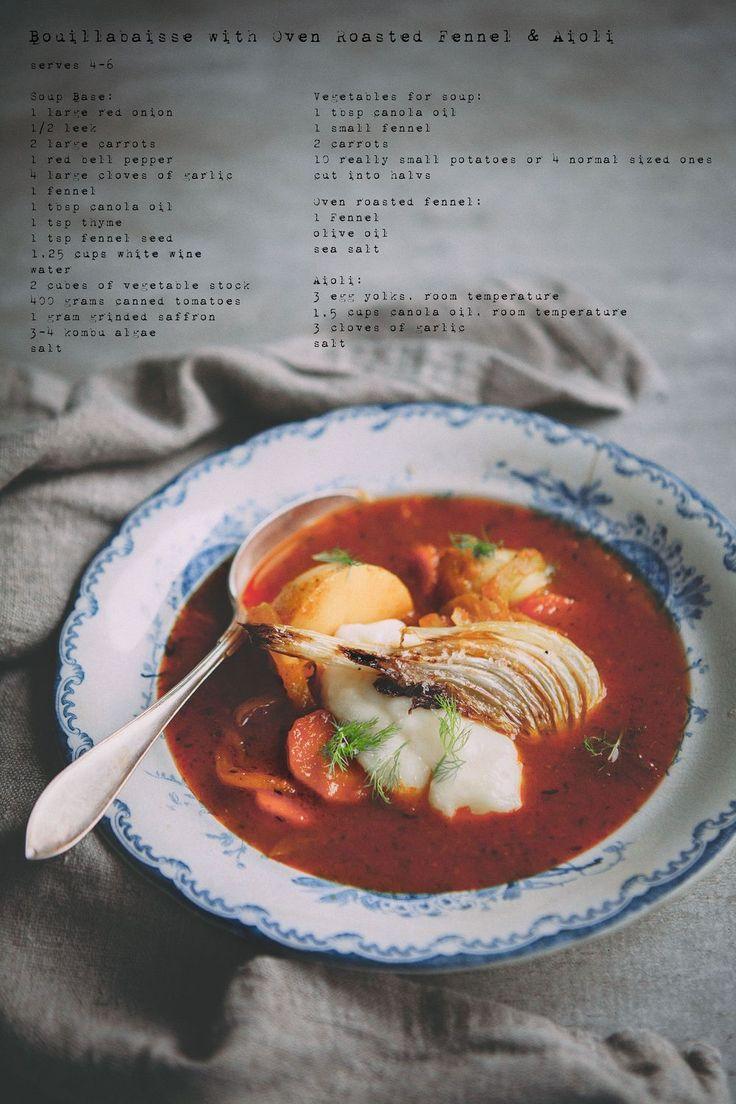 Köttfri Måndag - Vegetarisk Bouillabaisse med Ugnsrostad Fänkål & Aioli :: Meatfree Monday - Vegetarian Bouillabaisse with oven roasted Fennel & Aioli
