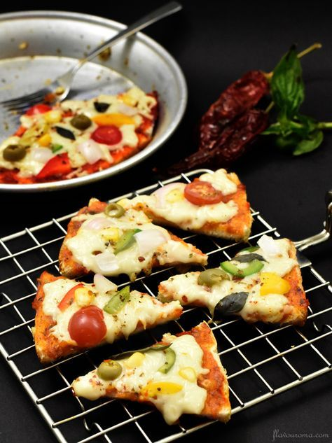 Bread Pizza Recipe | How to Make Bread Pizza Recipe without an Oven
