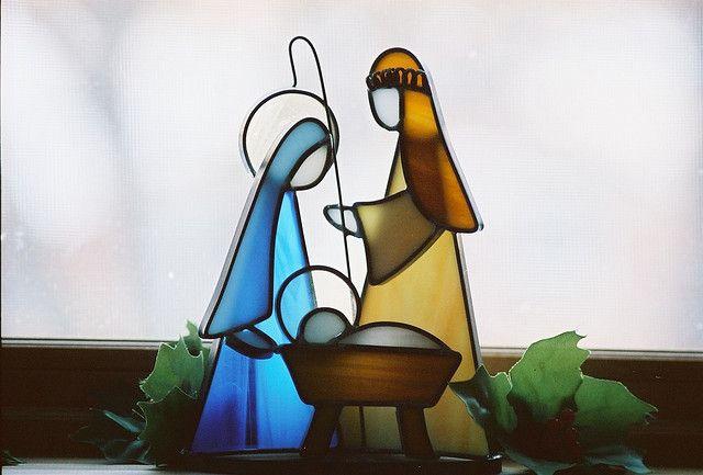 Stained Glass Nativity by grandpaspix, via Flickr