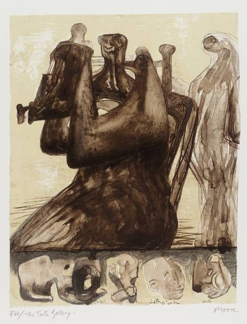 Henry Moore - Mother & Child With Border Design (1976.)