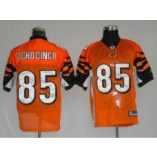 Bengals #85 Chad Ochocinco Orange Stitched NFL Jersey