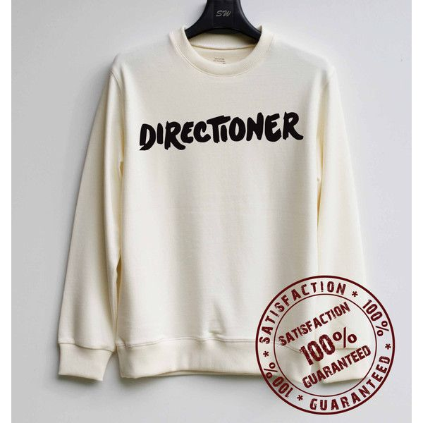 Directioner Shirt One Direction Sweatshirt Sweater Hoodie Shirt Size... ($29) ❤ liked on Polyvore featuring tops, hoodies, shirt top, hoodie top, hooded pullover, hooded sweatshirt and hoodie shirt