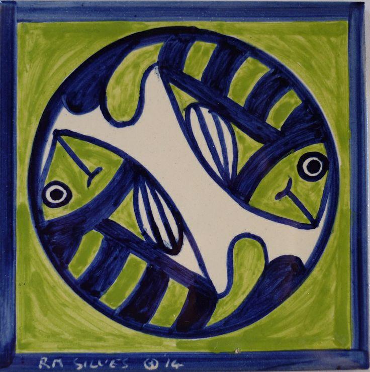 Hand Painted Tile by Roger Metcalfe. Silves - Portugal www.estudio-destra.com