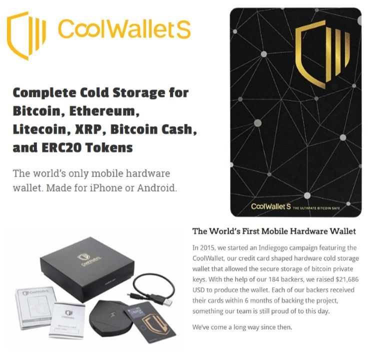 Cool Wallet S Complete Cold Storage Crypto Wallet for