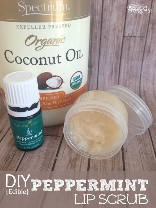 DIY All-Natural Peppermint Lip Scrub! Love this Easy Recipe using Essential Oils!