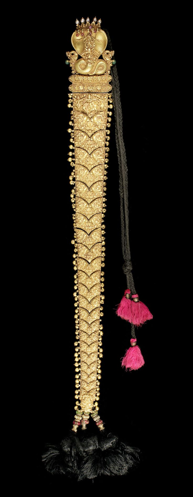 Gold braid, part of the Bonhams Indian Temple Jewellery.