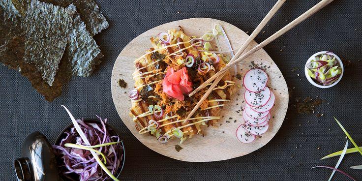 Japansk pannekake okonomiyaki -