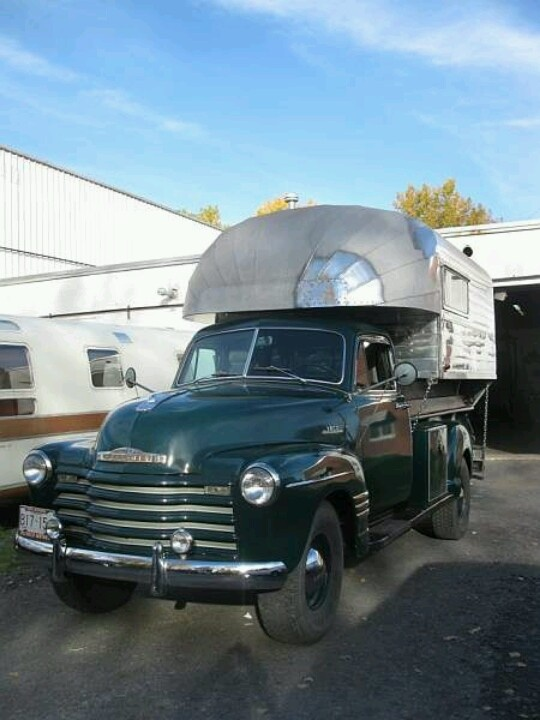 243 Best Vintage Classic Truck Campers Images On Pinterest