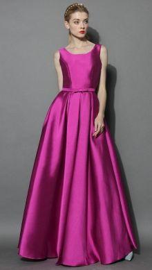 POSHme - Chicwish společenské šaty Glamorous, fuchsiové