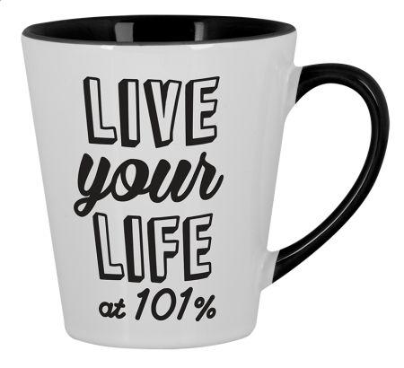 At 101% Small Mug Latte Design by ejmadziu | Teequilla | Teequilla
