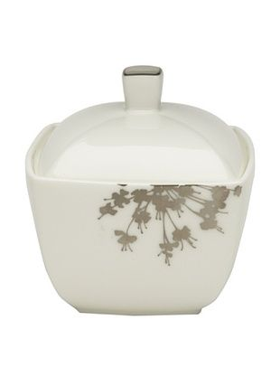 80% OFF Mikasa Floral Silhouette Covered Sugar Bowl