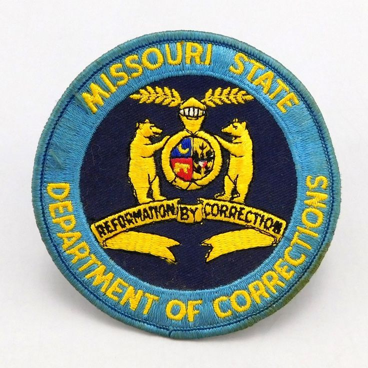 1950's - 1960's Vintage, Missouri State Department of Corrections, Police Patch