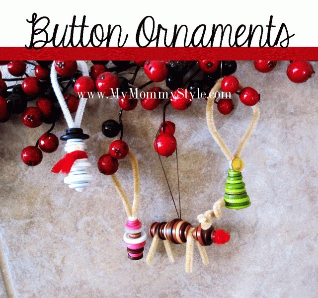 75 Best Christmas Craft Button Ornaments Images On