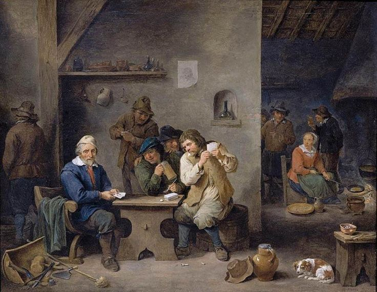 Figures Gambling in a Tavern - David Teniers the Younger
