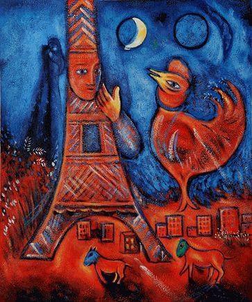 """""""Bonjour Paris"""" Chagall"""
