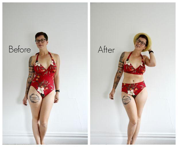 Picture of DIY NO SEW High Waist Bikini in 5 Minutes http://www.instructables.com/id/DIY-NO-SEW-High-Waist-Bikini-in-5-Minutes/?utm_content=bufferfe9b1&utm_medium=social&utm_source=facebook.com&utm_campaign=buffer