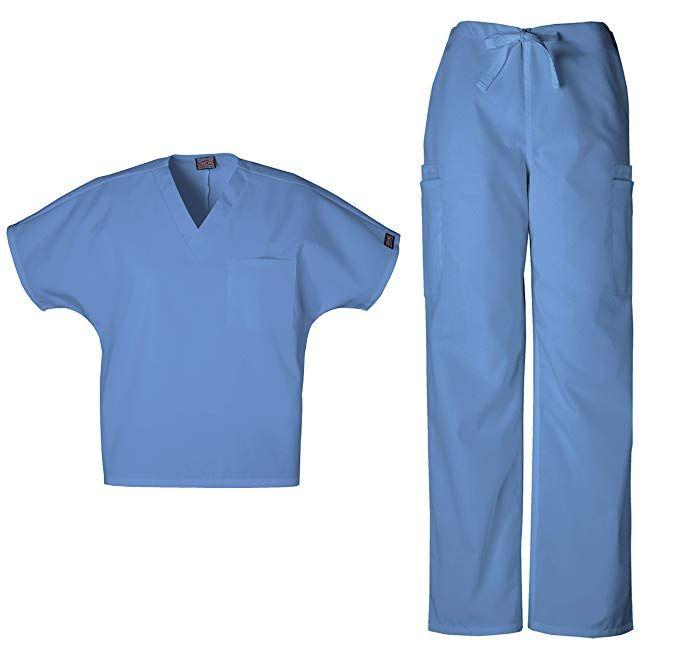 Sivvan Unisex Classic Scrub Set V-Neck Top//Drawstring Trousers