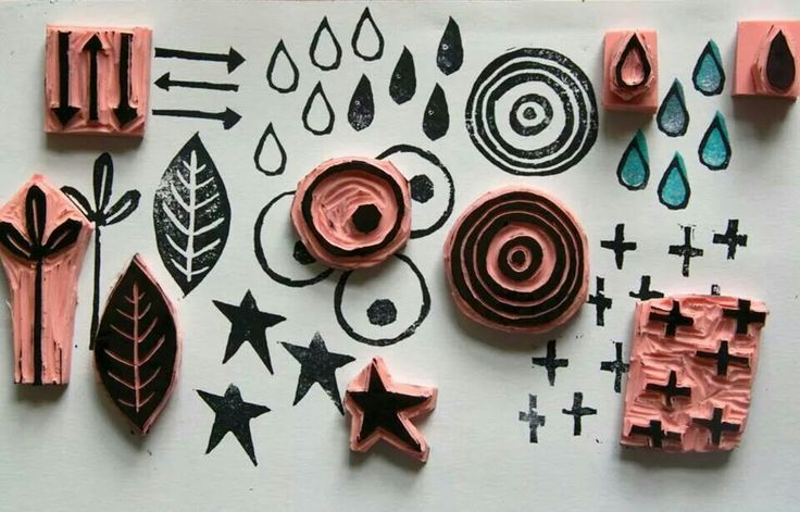 Hand carved stamps by kate crane art supplies
