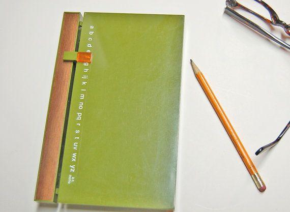 Retro 70s Avocado Address Finder 'Book' by lizzyandgrace on Etsy