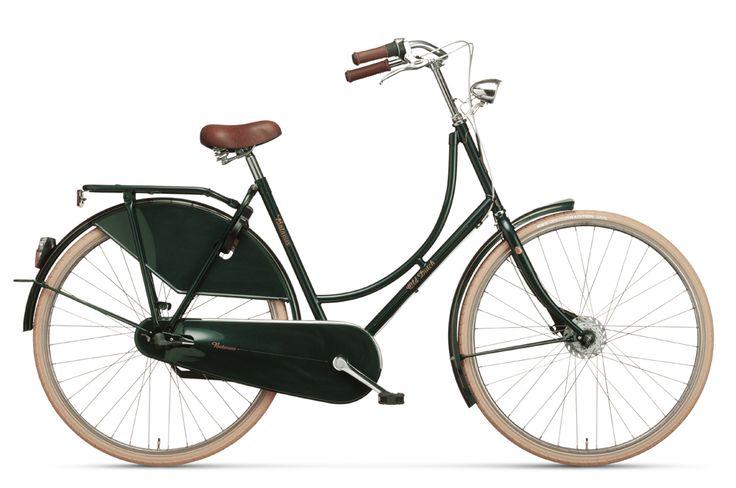 #Beautiful dark #green Dutch #bicycle Batavus Old Dutch