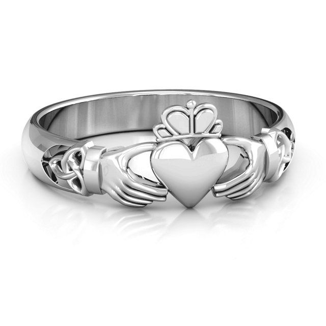 Celtic Knotted Claddagh Ring In 2018 Claddagh Rings Pinterest
