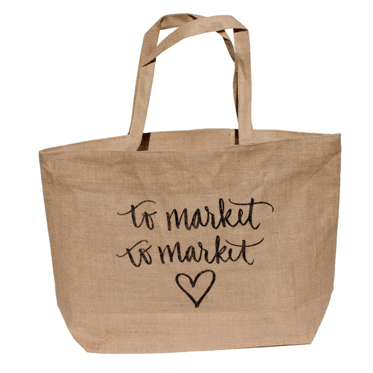 To Market To Market // Burlap Market Tote by yoursistheearthshop, $28.00