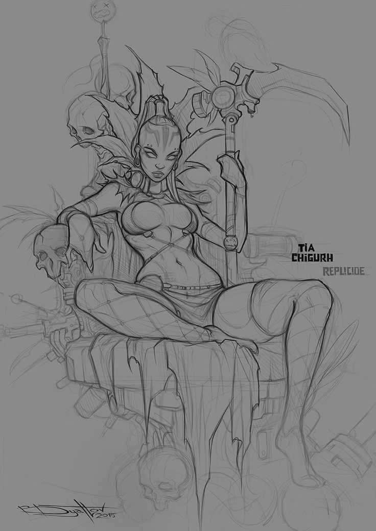 Tia Chigurh sketch, Boris Dyatlov on ArtStation at https://www.artstation.com/artwork/tia-chigurh-sketch